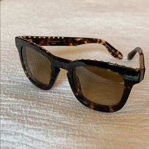 Givenchy gold studded tortoise sunglasses 7006/S